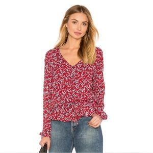 NWT Rails Beaux Top in Red Floral